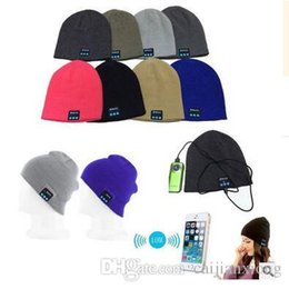 Wholesale Hand Cream Warmer - NEW Soft Warm Beanie Bluetooth Music Hat Cap with Stereo Headphone Headset Speaker Wireless Mic Hands-free for Men Women Gift V887
