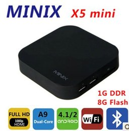 Wholesale Tv Box Neo X5 - Wholesale-by dhl or ems 10 pieces MINIX NEO X5 mini Android TV Box Mini PC Dual Core 1.6GHz 1G 8G HDMI Media Player Smart Box Receiver