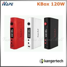 Кbox батареи онлайн-100% оригинал Kanger KBox 120 Вт TC Box Mod Kangertech KBOX 120 Вт контроль температуры Ecigarette Mod Fit 18650 батареи