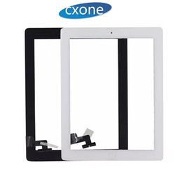 Wholesale Digitizer Adhesive - For iPad 2 3 4 Touch Screen Digitizer Assembly with home button with ic with adhesive Replacement Front Glass White Black Free shipping