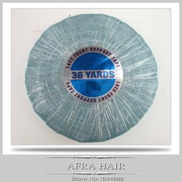 Wholesale 36 Hair Extensions - Wholesale-36 Yards Lace Front Support Tape Medical Tape Hair Extension Wig Adhesive 1.27cm*36yards Tape Roll T013