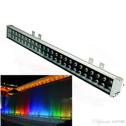 Wholesale flood stain - 48W LED wall washer RGB 48W wash wall LED lamp flood lights staining light bar lights barlight LED floodlight landscape lighting