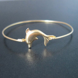 Wholesale Themed Plates - Hot Sale Dolphin Bangle Sea Themed Bracelet 2015 Europe and the United States jewelry free shipping YPQ0122