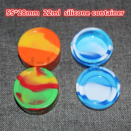 Wholesale Stock Containers - Free shipping 22 ml silicone container ,non-stick silicone wax jar ,food grade silicone oil & cosmetic container