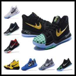 Wholesale Satin Fabric For Sale - Top Quality Kyrie 3 Celtics PE Clover for sale store Kyrie Irving Basketball shoes free shipping size 40-46
