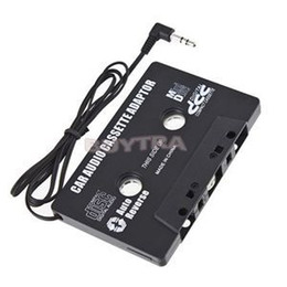 Wholesale Clear Dvd - Hot Sale Car Cassette Tape Adapter FOR MP3 CD MD DVD For Clear Sound Music drop shipping