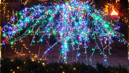 Wholesale Flashing Lights Discount - Hot Discount Outdoor Garden Waterproof Party Decoration Led Flashing Light 10m 100 Leds Holiday Colorful String Lightings