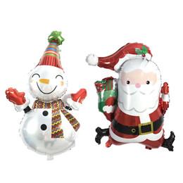 Wholesale Christmas Snowman Inflatables - 50Pcs lot Santa Claus Foil Balloons snowman Merry Christmas Balloons Helium Balloon Inflatable Christmas Decoration kids Classic Toys