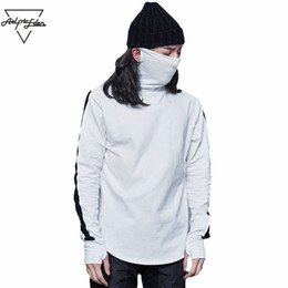 9e91858e80b0 Wholesale- Aelfric Eden G-DRAGON The Same Paragraph Turtleneck Hoodies  Assassins Creed Pullover Mask Section Men Sweatshirts Hot Sale Tops
