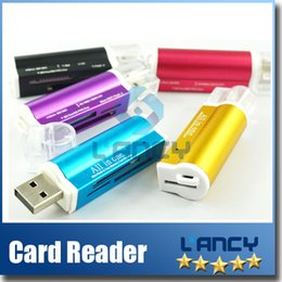 Wholesale Pro Duo Memory Cards - USB 2.0 All in One Memory Multi Card Reader For Micro SD SDHC TF SD MS Pro Duo card reader TF card micro SD card reader with retail package