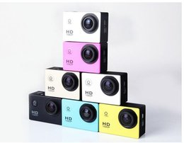 Wholesale Action Cameras - Free send DHL- 2017 new SJ4000 freestyle 2inch LCD 1080P Full HD HDMI action camera 30 meters waterproof DV camera sports helmet SJcam DVR00