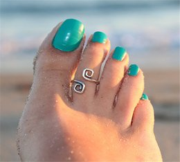 Wholesale Vintage Toe Rings - Vintage Wholesale Wedding Lovers Adjustable Foot Toe Tail Rings Toe Rings Statement Beach Toe Jewelry Women Lady Gift Free Shipping GTB