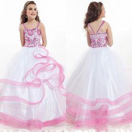 Wholesale Professional White Dresses - Rachel Allan Ball gowns Girls Pageant dresses Beauty Cheap Flowers Girls kids Professional Factory Handwork 2015