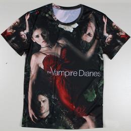 2019 t-shirt en gros t-shirt unique Gros-Unique The Vampire Diaries / Breaking Bad T-shirts pour hommes à manches courtes Sexy Femmes Patten T-shirts Impression Visual Creative T-shirts promotion t-shirt en gros t-shirt unique