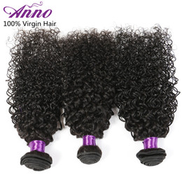 Wholesale Afro Curly Hair For Weaving - Anno Human Hair Grade 8A Peruvian Virgin Hair Kinky Curly 3 Bundles Peruvian Curly Hair Afro Kinky Hair Extension For Black Women