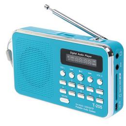 Wholesale Internet Radio Free Shipping - T-205 Radio Portable handsfree HiFi Card Speaker Digital Multimedia Loudspeaker AM FM Radio DHL free shipping
