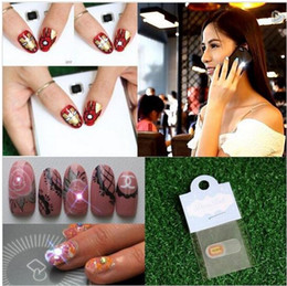 Wholesale Wholesale Nail Led Lights - 2015 New Arrival Cutter Steel free Shipping Nfc Nail Stickers with Led Light Flash Affixed Scintillation Art Tips Decoration Diy Up Nails