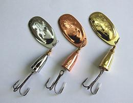 Wholesale Metal Fishing Hooks - Metal Fishing Lure Spinner Bait Hook VIB Blades 3 color Carp Bass Fishing Lure 0# 1# 2# 3# 4# 5# 6#