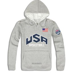 Wholesale Usa Hoodies - Wholesale-New 2016 Men's Sport Hoodies Casual Pullover America Basketball Hoodie 4 Colors Thick Hooded USA hip hop sweatshirts Men ding