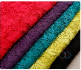 Wholesale Modest Wholesale - 2015 Lace Dress Fabric New Arrive Cheap Modest Dresses Accessories 1.6 Meter Wide Cheap Modest Sexy Hot Sale Lace Fabric Colorful