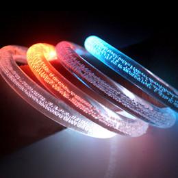 Wholesale Light Up Bracelets Free Shipping - 10pcs lot DHL free shipping light up acrylic bracelets led flashing wristbands blinking colors party