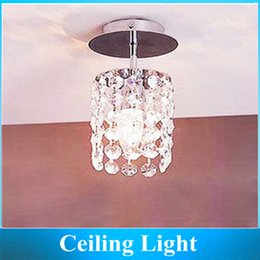 Wholesale Modern Minimalist Chandelier Free Shipping - Wholesale-Minimalist modern Crystal Lamp Aisle lights   Balcony Chandelier E27 LED 3W White   Warm white Free shipping