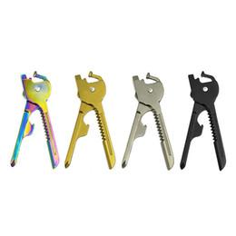 Wholesale utili key - SWISS+TECH 6 In 1 Utili-Key Mini Multi-function Outdoor Gadgets 4 Colors Keyring Pocket Knife Folding Portable Knives