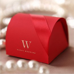 Wholesale Cheap Favor Boxes Wholesale - Wholesale- Cheap 10 pcs lot Red Wedding Favor Boxes Wedding Candy Box Wedding decoration Favors And Gifts