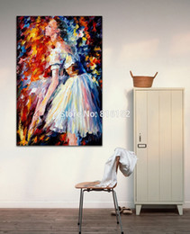 Wholesale Girl Knives - Beautiful Ballet Girl Palette Knife Oil Painting Printed On Canvas Mural Art For Home Hotel Office Decoration Wall Decor