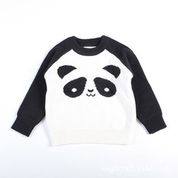 Wholesale Children Design Sweater - New Kids Panda Sweaters Pullover Knitted Spring Autumn Long Sleeved Girls Boys Children Casual Panda Design Kids Clothing 1-5T