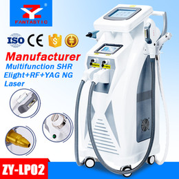 Wholesale Tattoo Laser Machine Yag Nd - 5 in 1 Multifunction Strong Energy OPT SHR IPL Laser Hair Removal ND YAG Laser Tattoo Removal Beauty Machine IPL&RF & ND YAG&Elight