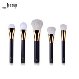 Wholesale Coffe Sets - New Jessup Brand Beauty 5pcs Coffe Professional Makeup Brushes Set Make Up Tools Kits Cosmetics Foundation Blush Powder Brush