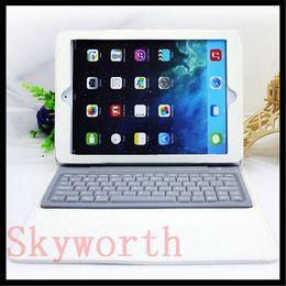 Wholesale Wireless Ipad Mini Folios - New Wireless Bluetooth Keyboard PU Leather Case Folio Cover For ipad air 5 ipad mini 1 2 retina Stand