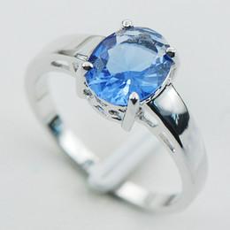 Wholesale Tanzanite Ring Settings - Tanzanite 925 Sterling Silver Ring Size 5 6 7 8 9 10 11 12 PR04