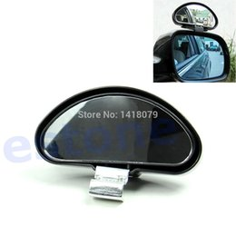 Wholesale Wide Angle Side View Mirror - FREE SHIPPING!!! New Black Universal Auto Vehicle Side Blind Spot Mirror Wide Angle View Safety