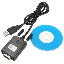 Wholesale Rs Cable - High Quality RS232 RS-232 Serial to USB 2.0 PL2303 Cable Adapter Converter for PC For windows 98  Se  ME  2000  XP New
