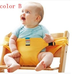 Wholesale Baby High Chair Green - Toddler Chair Portable Sling Baby Dining Seat Safety Belt Infant Seat Sack High Chair Harness Cover Baby Backpack Carrier