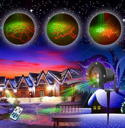 Wholesale Snowflake Christmas Tree Decorations - Wholesale- Christmas IP65 Outdoor Laser Lights Projector 8 Patterns RG Waterproof Snowflake Xmas Tree Garden Decoration Show Lighting