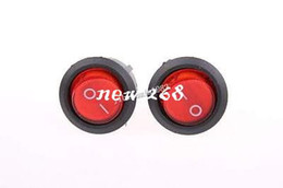 Wholesale Round Lighted Rocker Switch - 100 Pcs SPST Red Neon Light On Off Round Rocker Switch AC 6A 250V 10A 125V
