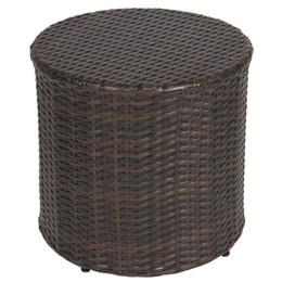 Wholesale Pe Wicker Rattan Furniture - Outdoor Wicker Rattan Barrel Side Table Patio Furniture Garden Backyard Pool