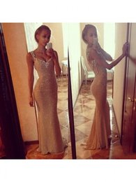 Wholesale Long Sleeve Formal Bodycon Dress - 2015 Gold Prom Dresses with Long Sleeves Sweetheart Bodycon Cocktail Dresses Trumpet Style Formal Dresses Evening Dresses with Appliques