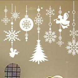Wholesale Wall Sticker Snow - SIZE:1000 x 750mm merry christmas tree snow door wall glass window sticker decoration decal quotes kids room decoration stickers