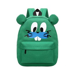 Wholesale Mouse Backpack - Fashion Cute Cartoon Mouse Print Women Backpack Zipper Pocket Canvas Bags Student Bag For Teenager Girls School Bag Rucksack