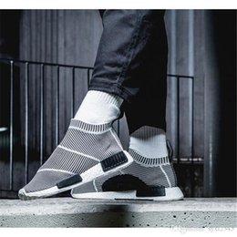 Wholesale High Cs - Cheap NMD_CS1 PK Runner City Sock Nmd Cs1 CS 1 Mens Women Classic Running Shoes City Sock Cs1 Primeknit Grey Sports Sneakers EUR36-45
