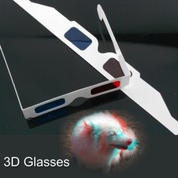 Wholesale New Dvd Series - Cheap price New Brand 3D paper Glasses for DVD Movies TV Series Red And Blue Colors DHL freeshipping wholesale 500 pcs
