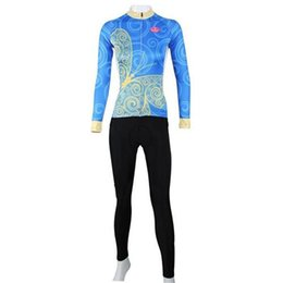 Wholesale Tight Gel - 2015 Hot Sale Free Shipping Paladin winter women pro cycling clothing sets lycra long sleeve jerseys tights ropa de ciclismo Gel Pad pants