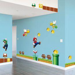 Wholesale Cartoon Mario - Super Mario Bros Kids Removable Wall Sticker Decals Nursery Home Decor