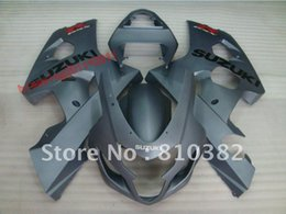 Wholesale Gsxr Grey - Top Grade BODY KITS fairing kit for SUZUKI GSXR 600 750 04-05 GREY GSXR 2004 2005 GSXR600   750 EMS FREE SHIPPING 04 05