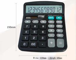 Wholesale Button Calculator - New Solar Power And Batter Powered Desk Desktop Jumbo Large Buttons Digit Calculator Battery Calculator Free Shipping