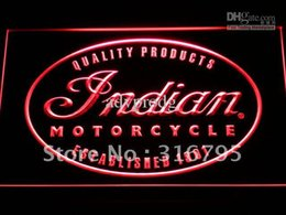 Wholesale Motorcycle Neon Signs - d214-r Indian Motorcycle Service Neon Light Sign